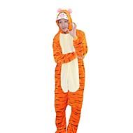 Kigurumi Pijamas Tiger Ocasiões Especiais Flanela Fantasias de Cosplay Kigurumi Malha Collant / Pijama Macacão Cosplay Festival /