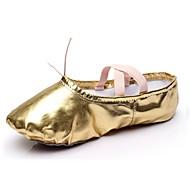 billige Kustomiserte dansesko-Dame Ballettsko Syntetisk Flate Flat hæl Kan spesialtilpasses Dansesko Gull / Sølv / Innendørs