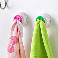 2pc стиральная ткань клип-вешалка держатель присоски кухонный шкаф для хранения кухонный шкаф ванная кухня хранения ручное полотенце крючок случайный