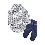 Baby Børn I-byen-tøj Afslappet/Hverdag Dyr Trykt mønster Tøjsæt,Dyretryk Forår/Vinter