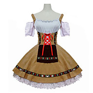 cheap Halloween & Carnival Costumes-Maid Costume Waitress Oktoberfest Cosplay Costume Masquerade Women's Adults' Carnival Oktoberfest Festival / Holiday Halloween Costumes