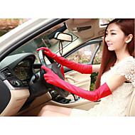 Dame Basale Fingerspidser Handsker - Polyester Ensfarvet / Sommer