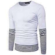 Majica s rukavima Muškarci Prugasti uzorak Color block Okrugli izrez Pamuk
