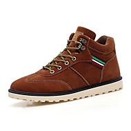 Men's Sneakers Comfort Nubuck leather Spring Fall Casual Outdoor Office & Career Lace-up Flat Heel Brown Gray Black Flat