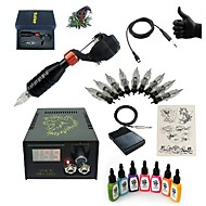 Starter Tattoo Kits-Basekey High Born Tattoo Kit H015-S2 1 Rotary Machine With 7 Inks Power Supply 10 PCS Needles