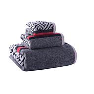 Frisk stil Badehåndkle Sett,Stripe Overlegen kvalitet 100% Bomull Håndkle