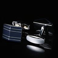 Запонка Галстук Заколка для галстука Мода Подарочные коробки и сумки Запонки Муж. Мужской Серебряный