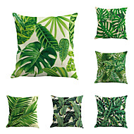 cheap Throw Pillows-6 pcs Cotton/Linen Pillow Case Pillow Cover, Botanical Classic Novelty Classical Tropical Neoclassical Euro Traditional/Classic Retro