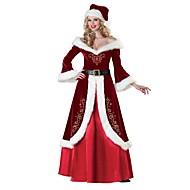 baratos -Ternos de Papai Noel Mrs.Claus Vestidos Ocasiões Especiais Mulheres Adulto Natal Festival / Celebração Roupa Vermelho Vintage