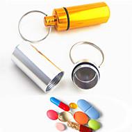 2pc nyhet blandet farge mini kapsel formet boks flaskeholder beholder nøkkelring tilfeldig