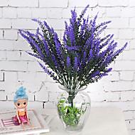 1 ブランチ プラスチック 植物 ライトブルー テーブルトップフラワー 人工花