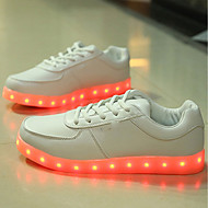 cheap LED Shoes-Men's Shoes Leatherette Winter Fall Light Up Shoes Sneakers LED for Casual Outdoor White Black