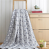 cheap Blankets & Throws-Flannel Geometric Cotton/Polyester Blankets