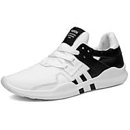 Masculino Tênis Conforto Borracha Primavera Outono Cadarço Rasteiro Branco Preto Branco/Preto Menos de 2,5cm