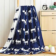 Korallenfleece Tiere Gemischte Polyester/Baumwolle Decken