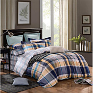 Geometric 4 Piece Cotton Cotton 4pcs (1 Duvet Cover, 1 Flat Sheet, 2 Shams)
