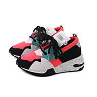 """נשים נעלי אתלטיקה נעליים פורמלית PU סתיו אתלטי קזו'אל הליכה שרוכים עקב נמוך לבן שחור ס""""מ 5 - ס""""מ 7"""