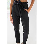 Dámské Na běžné nošení Lehce elastické Volné Kalhoty chinos Kalhoty Mid Rise Jednobarevné Jaro Léto