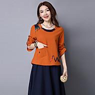 cheap Women's Tops-Women's Chinoiserie Cotton T-shirt Print