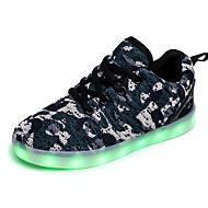 tanie Obuwie chłopięce-Dla chłopców Buty Dzianina Dżety Derma Zima Jesień Świecące buty Lekkie podeszwy Comfort Tenisówki Cekin Szurowane na Na wolnym powietrzu