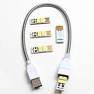 1pcs usb-Schlauch 4pcs usb-Computer mit Notenlampen-Schalter beweglicher Energien usb-Lampen-Nachtlicht-Nachttisch-Leselampen-kampierende