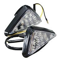 Ziqiao 1 pár motorkerékpár világos flush mount fordítsa jelzőlámpa led lámpa borostyánsárga kijelző villogó villogó világítás