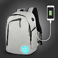billige Skoletasker-Unisex Tasker Oxfordtøj rygsæk for Afslappet Sport udendørs Alle årstider Sort Grå