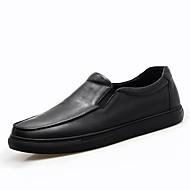 baratos Sapatos Masculinos-Homens Pele Verão / Outono Conforto Mocassins e Slip-Ons Caminhada Preto