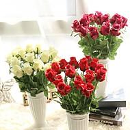 1 Gren PU Roser Bordblomst Kunstige blomster