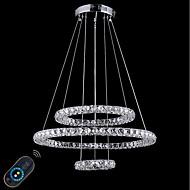 billige Takbelysning og vifter-Sirkelformet Lysekroner Omgivelseslys galvanisert Metall Krystall, Justerbar, Mulighet for demping 110-120V / 220-240V Dimbar med fjernkontroll LED lyskilde inkludert / Integrert LED