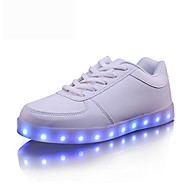 Women's Sneakers Comfort Light Up Shoes Fall Winter Synthetic Microfiber PU Casual Party & Evening Outdoor Office & Career Lace-up Flat