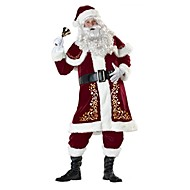 cheap -Santa Suit Santa Claus Costume Outfit Men's Adults' Christmas New Year Masquerade Festival / Holiday Outfits Red Vintage