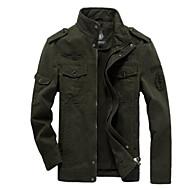 Bărbați Stand Jachetă Casul/Zilnic Simplu,Mată Mânecă Lungă Toamnă-Regular Amestecuri Bumbac
