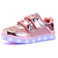 baratos Sapatos de Menina-Para Meninas Sapatos Sintético Outono / Inverno Tênis com LED Tênis LED para Dourado / Prata / Rosa claro / Casamento