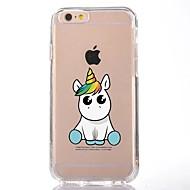 Para iPhone X iPhone 8 Case Tampa Transparente Estampada Capa Traseira Capinha Unicórnio Desenho Animado Macia PUT para Apple iPhone X
