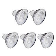 billige Spotlys med LED-5pcs 6W 1lm GU10 LED-spotpærer MR16 1 LED perler COB Varm hvit Kjølig hvit 220V