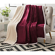 cheap Blankets & Throws-Super Soft, Printed Solid Colored Cotton Blankets