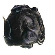 6x9 mens toupee peruk ön dantel saç parçası hafifçe dalgalı Hint saç sistemi değiştirme