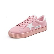 cheap Women's Sneakers-Women's Shoes Suede Spring Fall Comfort Sneakers Walking Shoes Platform Round Toe Lace-up for Casual Black Gray Red Pink