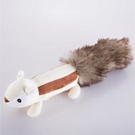 baratos -Brinquedo Para Cachorro Brinquedos para Animais Brinquedos Felpudos Brinquedos que Guincham Fofinho rangido Esquilo Pele Falsa Para