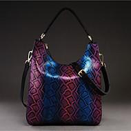 Women Bags All Seasons Cowhide Shoulder Bag for Casual Purple