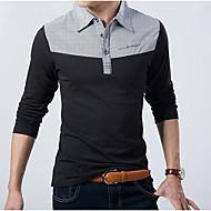 Pánské - Barevné bloky Polo Bavlna Košilový límec