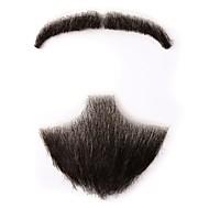 Neitsi 100% ihmisen hiukset täynnä käsi sidottu fake viikset parta holloween meikki parta em749mh&h749b
