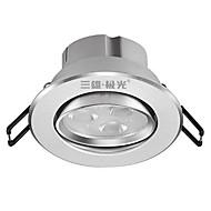 billige Innfelte LED-lys-3 W lm 3 LED perler Innfelt lampe Varm hvit 220 V / 1 stk. / CE