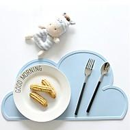 Nuvem padrão de tapete de silicone para crianças de mesa de limpeza de jantar