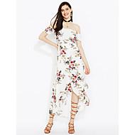Χαμηλού Κόστους naomi-Γυναικεία Παραλία Θήκη Φόρεμα - Φλοράλ, Εξώπλατο Σκίσιμο Μακρύ Ψηλοκάβαλο Χαμόγελο