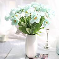 10 Peças 10 Ramo Seda Poliéster Outras Flor de Mesa Flores artificiais