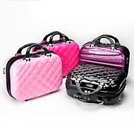 Cosmetic Bag Makeup Storage Solid Plaid/Check Graphic Quadrate Plastics Plating Mixed Material