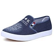 tanie Obuwie męskie-Męskie Buty Jeans Wiosna Jesień Comfort Mokasyny i pantofle na Casual Na wolnym powietrzu Dark Blue Light Blue