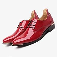 Для мужчин обувь Термопластик Осень Зима Формальная обувь Свадебная обувь Назначение Свадьба Для праздника Черный Морской синий Красный